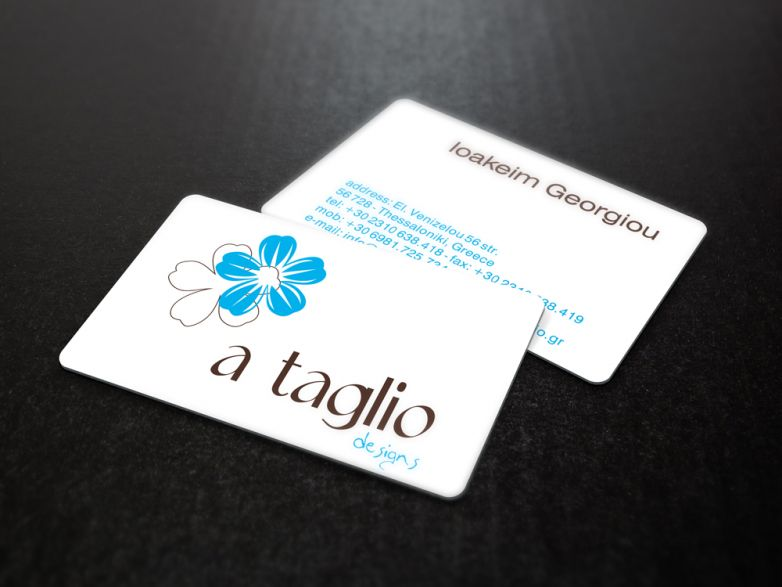 a*taglio designs business card