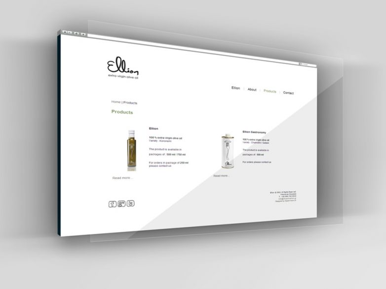 Ellion Olive Oil website